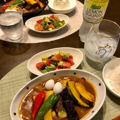 静岡メロン/フード/おうちごはん/ペット 久しぶりーー〜の 夕ご飯😊 スープカレー…