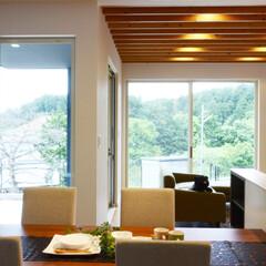 新築/不動産・住宅/高台/見晴らし/滋賀県/田舎暮らし/... 大きな窓があるとさわやかで気持ちがいい(…