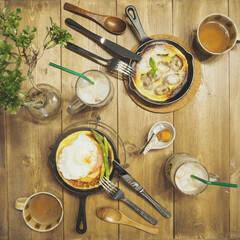 カフェ風インテリア/おうちカフェ おうちカフェ♪ カフェ風にスキレットでダ…