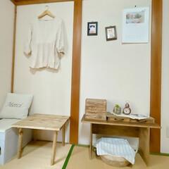 テーブルDIY/DIY家具/DIY女子/引き出しDIY/古道具風/古道具/... 気付いたら和室の家具ほとんど手作り𓇬𓂂𓈒…(1枚目)