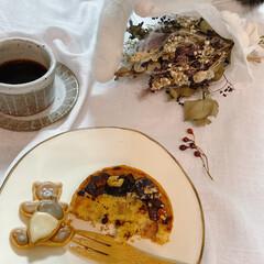 猫と暮らす/器のある暮らし/Madu/おしゃれカフェ/焼き菓子/東大阪/... 今日のおやつ。 東大阪「よつば印」さんの…(4枚目)