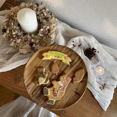 ケーキスタンド/花のある暮らし/sweets/スイーツ/大阪カフェ/ドライフラワー/... なによりアイシングクッキーが可愛い!そし…(2枚目)