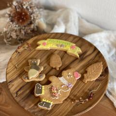 ケーキスタンド/花のある暮らし/sweets/スイーツ/大阪カフェ/ドライフラワー/... なによりアイシングクッキーが可愛い!そし…(3枚目)