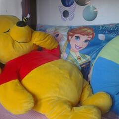 子供部屋/クッション ディズニー大好きな長女のベッドは、いつも…