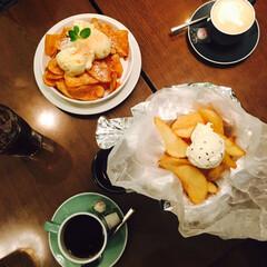 新宿/ルミネ2/ワイヤードカフェ/キャラメルソルトポテト 女子会のティータイムのおやつにぴったり♡…