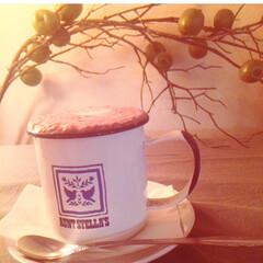 ココア/ほう/琺瑯/マグカップ/お気に入り/癒し ココアを飲むときは、この琺瑯マグカップ。…