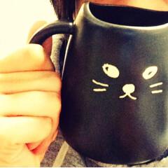ねこ/マグカップ/お気に入り/にゃんこ、/ペア 一目惚れしてかったにゃんこマグ。 耳が邪…