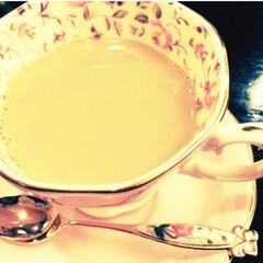 ピンク/小花柄/贅沢/ロイヤルミルクティー/カップ/ソーサー/... 頂き物の、なんとも贅沢気分が味わえるカッ…