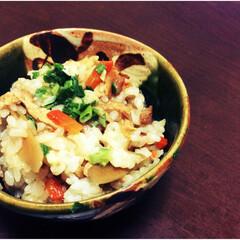 炊き込みごはん/根菜/ごぼう/にんじん/おうちごはん/秋/... ごぼう、にんじん、油揚げの炊き込みごはん…