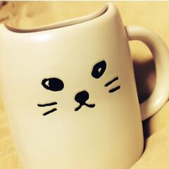 猫/白猫/マグカップ/お気に入り/ペア/猫耳/... 先日アップしたくろねこマグカップのペアの…