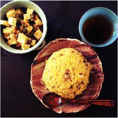中華/チャーハン/炒飯/麻婆豆腐/おうちごはん/定食 おうちで中華ごはん。 チャーハン×麻婆豆…(1枚目)