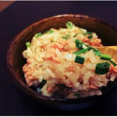 炊き込み/鮭の炊き込みごはん/鮭フレーク/アレンジレシピ/益子焼/お弁当メニュー/... 今回はチャレンジメニュー。鮭フレークを炊…