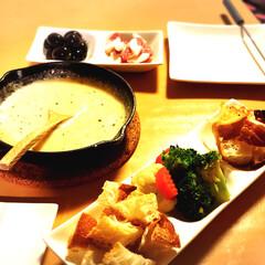 チーズフォンデュ/大人/おつまみ 早い夕飯の後に…おつまみ欲しいーーーーッ…