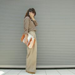 秋ファッション/秋コーデ/ユニクロコーデ/ボーダー/ユニクロ/ファッション こんにちは!  骨格スタイルアドバイザー…
