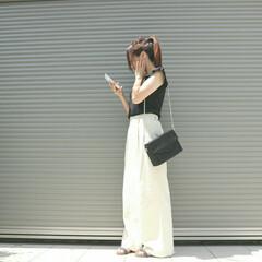 ファッション/ユニクロ/ベルテッドリネンコットンワイドパンツ/ワイドパンツ/リネン/夏コーデ/... 【UNIQLO】ベルテッドリネンコットン…