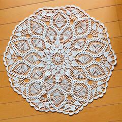 編み編み大好き/手持ち無沙汰から始めちゃった/直径55cm/レース編み/ハンドメイド 手持ち無沙汰で始めちゃったレース編み🤣 …