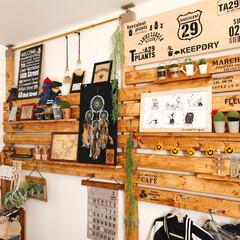 寝室/DIY/雑貨/100均/セリア/ダイソー/... 寝室デス...  ここもディスプレイを変…
