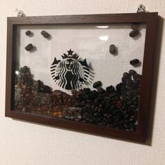 コーヒー豆/DIY/雑貨/100均/インテリア/わたしのお気に入り 真似っ子認可下りて作成しましたぁー...…