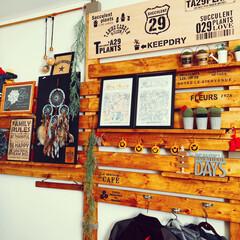 寝室/素敵便/サボᒼᑋªⁿ♥︎大好き/ラブリコDIY/DIY/雑貨/... お気に入りコーナーPart6  寝室の壁…