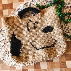 麻紐バッグ/編み編み大好き/ハンドメイド/令和元年フォト投稿キャンペーン 麻紐でバッグ編み編みしました! 久しぶり…