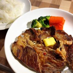 幸せ♡/ステーキ/ひな祭り/わたしのごはん/フード ひな祭り...今日の晩ご飯!  お肉が食…