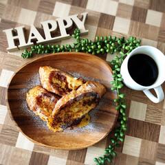 アカシアプレート/フレンチトースト/わたしのごはん/フード/雑貨/100均/... いっぱい寝ましたぁー(笑)  朝食は久し…