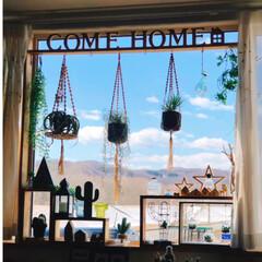 ラブリコDIY/サボᒼᑋªⁿ♥︎大好き/デコ窓/好きな眺め/お気に入りコーナー/DIY/... なんか久しぶりに青空みたかも?ってくらい…