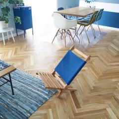 観葉植物/モンステラ/キャビネット/IKEA/チェア/椅子/... 1人掛けの椅子を買いました。ウッドビーベ…
