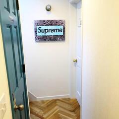 ドア/マリンランプ/ヘリンボーン/インテリア/廊下/シュプリーム/... カリフォルニアから届いたアートパネル。ブ…