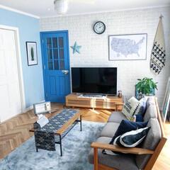 ヒーター/ラグ/ペンキ塗り/テレビボード/バーンスター/unico/... 冬支度を始めました。 我が家の2つのヒー…