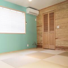 後藤照明/カラーワークス/バンブーブラインド/ルーバー/琉球畳/和室 和室っぽくない和室。