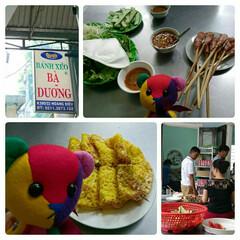 バインセオ/海外生活/ベトナム料理/ダナン/ベトナム/くま/... バインセオはホーチミンで食べてたお店より…
