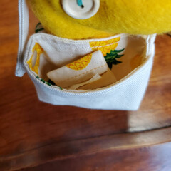 まあやぽっけ/minneで販売予定です/ミンネ/minne/いちご/パイナップル/... 持ち物は飴ちゃん巾着袋とティッシュケース…(6枚目)