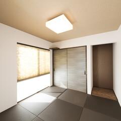 和室/床の間/押入れ/半畳畳 布団も仕舞える押入れと床の間がある和室。