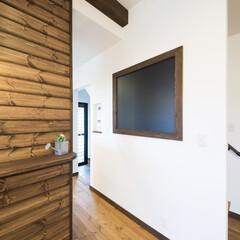 黒板 皆が通るキッチン近くに黒板を設置。連絡ツ…