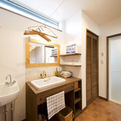 洗面台/マルチシンク/洗濯ワイヤー オリジナルの洗面台とマルチシンク。室内干…