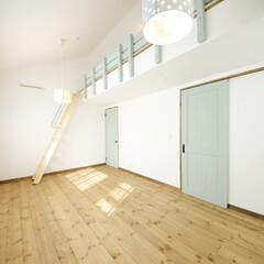 ロフト/無垢フローリング 子供部屋は将来、仕切るように設計。
