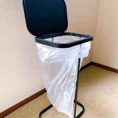 分別ゴミ袋ホルダー ルーチェ ホワイト | 山崎実業(ゴミ箱、ダストボックス)を使ったクチコミ「山崎実業さんのゴミ箱購入。 我が家犬がい…」