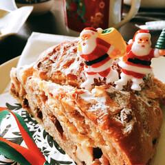 クリスマス/クリスマスツリー/グルメ/フード/スイーツ/おうちごはん クリスマスブレッド🎅  ドライフルーツと…