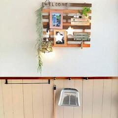 ペンダントライト/傘立て/腰壁/すのこ/グリーン/DIY/... 玄関ディスプレイ完成!  イメージ通りに…