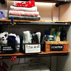 ランドリーラック/洗濯機棚/洗濯機ラック/ブルックリンスタイル/男前/DIY/... ランドリーラックって、なかなか「ちょうど…