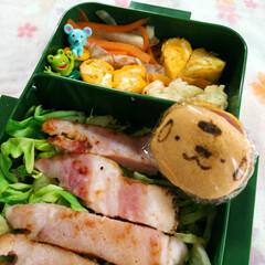 箸休め/キャラ弁/甘い卵焼き/旦那さん弁当/スイーツ/フード 今日のミニデザートは、ポムポムプリンどら…