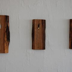 「ショップに栗の木で製作した時計を納品致し…」(1枚目)