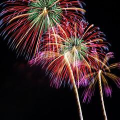 冬の花火/花火大会/花火/フォロー大歓迎/風景 長野県 えびす講煙火大会に行ってきました…