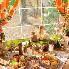 ワンプレートごはん/キャンプ/キャンプ飯/リミアの冬暮らし/我が家のテーブル/リミアな暮らし/... キャンプ🏕ランチです。:+((*´艸`)…