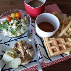 早起き/朝食/ホットサンドメーカー/キッチン雑貨/おうちごはん/キッチン/... 今日は早起きだったので仕事前に二度寝しな…