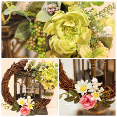 お花を贈る/ナチュラルリース/リース/贈り物/インテリア/インテリアフラワー/... ご出産のお祝いに リースのご注文を頂きま…