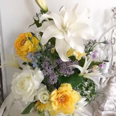 お花の教室/アーティフィシャルフラワー/米寿/お祝い/ハンドメイド/雑貨/... 米寿のお祝い🎈 アレンジメントのオーダー…