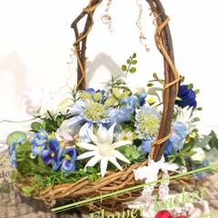 インテリア/フラワーアレンジメント/インテリアフラワー/お花のある暮らし/ハンドメイド/雑貨/... こんばんは✨  今日はとても良いお天気で…