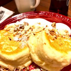 ボリュームたっぷり/甘いもの/森の珈琲/カフェ/パンケーキ食べたい/パンケーキ/...